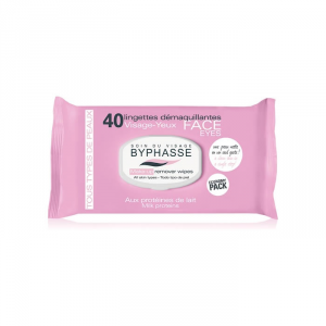 Byphasse Make Up Remover Wipes All Skin Types 40 Units
