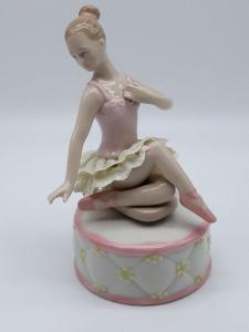 Carillon Ballerina classica in ceramica, vendita on line | GIOIELLERIA BRUNI Imperia