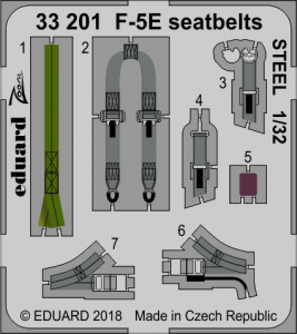 F-5E seatbelts STEEL KITTY HAWK