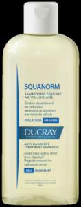Ducray Squanorm shampoo trattante antiforfora forfora grassa elimina la forfora normalizza l'eccessiva secrezione di sebo