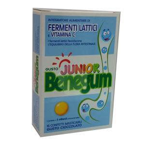 Benegum Junior Fermenti Lattici 16 cpr cioccolato