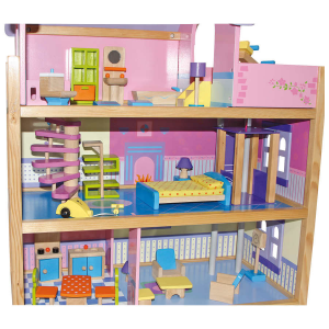 Casa delle bambole rosa Gioco in legno