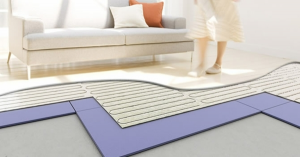Impianto radiante per riscaldamento a pavimento   impatto ambiente  0 , manutenzione 0 .         Al mq :