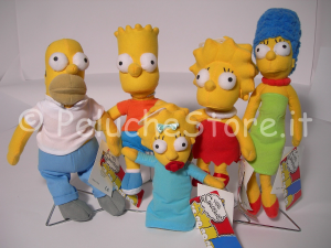 Simpson Homer Bart Marge Maggie Lisa peluche 25 cm qualit top