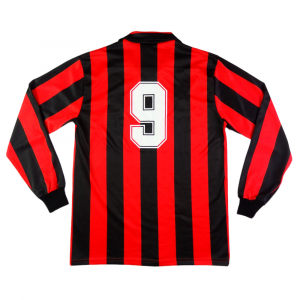 1988-89 AC MILAN MAGLIA HOME #9 VAN BASTEN XL
