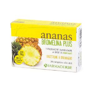 Ananas bromelina digestione e drenaggio 30 compresse 500 mg di bromelina