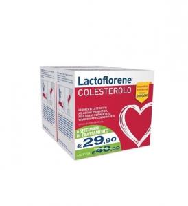 Lactoflorene Colesterolo fermenti lattici Riso rosso vitamina PP e Coenzima Q - 20 bustine X2