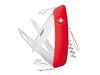 Coltello multiuso D07 red w/scissors