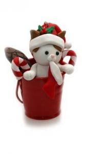 Secchiello di Natale con un Gattino  (BL-2236)