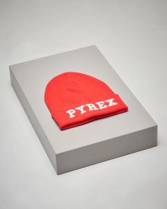 Berretto rosso in maglia con logo
