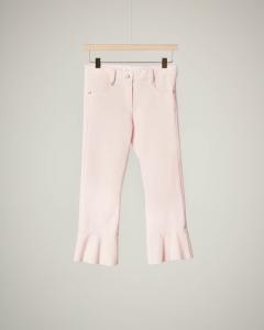 Pantalone rosa fondo volano