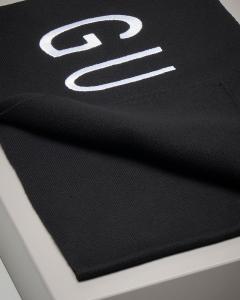Sciarpa nera maxi logo