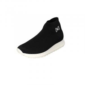 Sneaker 2 star a calza in tessuto Nero donna