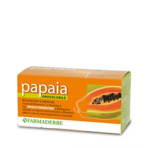 Papaia orosolubile con vitamina C, Vitamina E con Papaia fermentata, melograno e rhodiola 30 bustine