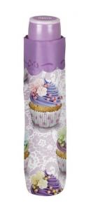 Ombrello Donna Mini Viola con stampa Cupcake cm.diam.97