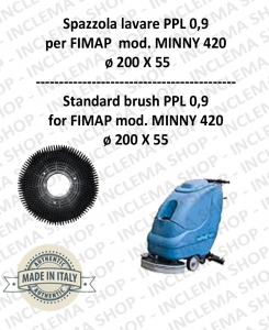Strandard Wash Brush  for Scrubber Dryer FIMAP modello MINNY 420 PPL 0,9