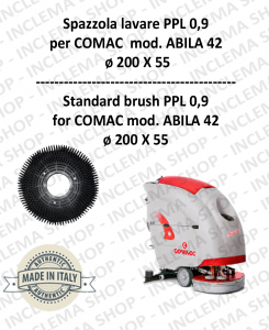 Strandard Wash Brush ppl 0,9 for Scrubber Dryer COMAC mod. ABILA 42