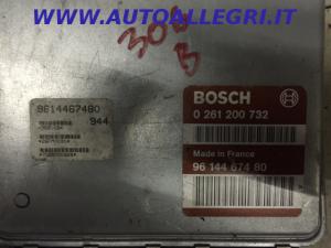ECU Centralina motore Peugeot 306 BOSCH 0261200732, 0 261 200 732, 9614467480
