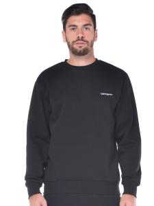 Felpa uomo Carhartt in cotone con logo nero e919fe2588e