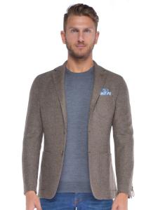 Giacca uomo Paoloni in misto lana con toppe beige b53a139fe2c