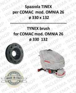 SPAZZOLA in TYNEX for Scrubber Dryer COMAC mod. OMNIA 26