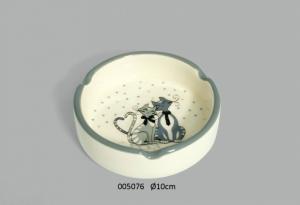 Posacenere rotondo con Gattini grigi (005076)