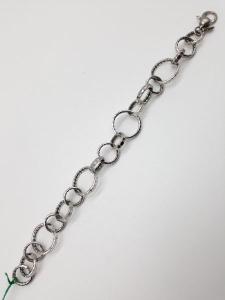 Bracciale donna in argento 925 a cerchi, vendita on line | GIOIELLERIA BRUNI Imperia