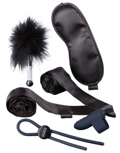 FIFTY SHADES OF GREY Set giochi fetish in silicone a batteria lunghezza 136 cm