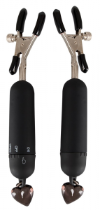 BAD KITTY Morsetti e catene fetish a batteria lungo 15 cm diametro 1,9 cm