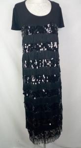 Vestito mezza manica con paillettes cerimonia elegante calibrato grande