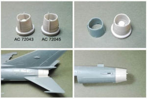 Mig-21MF correction exhaust set - Gorky production