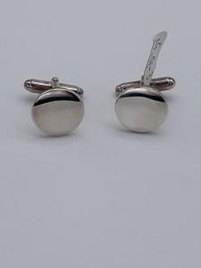 Gemelli in argento rotondi lucidati a specchio, vendita on line | GIOIELLERIA BRUNI Imperia