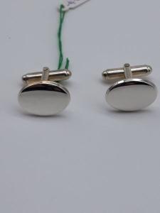 Gemelli in argento ovali, vendita on line | GIOIELLERIA BRUNI Imperia