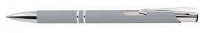 Penna alluminio gommata color argento cm.14x1x1h
