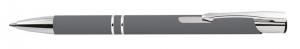 Penna alluminio grigia gommata cm.14x1x1h