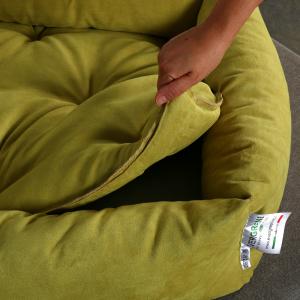 Letto per Cani di diverse Taglie color Verde Chiaro, Imbottitura in Schiuma Waterfoam Morbido Lavabile in Lavatrice, Cuccia da Interno con Cuscino Sfoderabile, Materasso per Tutti Animali Domestici