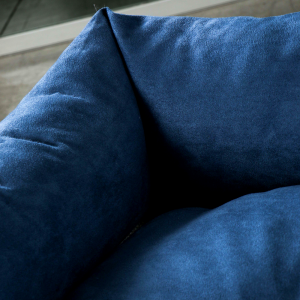 Letto per Cani di diverse Taglie color Blu, Imbottitura in Schiuma Waterfoam Morbido Lavabile in Lavatrice, Cuccia da Interno con Cuscino Sfoderabile, Materasso per Tutti Animali Domestici
