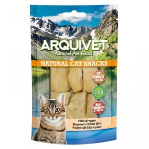 ARQUIVET Pollo al vapore snack per gatto in formato sacchetto