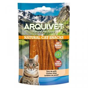 ARQUIVET Strisce di pollo snack per gatto in formato sacchetto