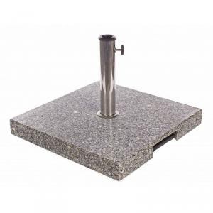 BIZZOTTO Base ombrellone granito 40kg acciaio con bas. Marmo