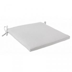 BIZZOTTO Cuscino skipper grigio quadrato in tessuto con lacci di colore bianco
