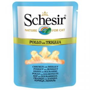 SCHESIR CAT pollo triglia alimento gatto umido premium formato bustina