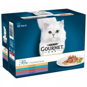 GOURMET PERLE G.perle cofanetto alimento gatto umido f.media 85g 4 pezzi