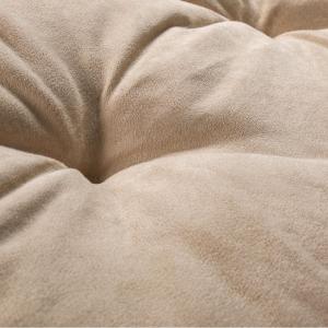 Letto per Cani alto 8 cm Lavabile Materasso Multiuso per Animali Domestici Cuscino Ortopedico in Waterfoam Cuccia Tappeto Sofa Imbottitura 100% Fiocco Effetto Piuma Tessuto Beige