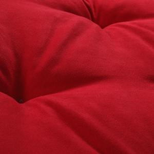 Letto per Cani alto 8 cm Lavabile Materasso Multiuso per Animali Domestici Cuscino Ortopedico in Waterfoam Cuccia Tappeto Sofa Imbottitura 100% Fiocco Effetto Piuma Tessuto Rosso