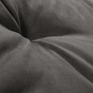 Letto per Cani alto 8 cm Lavabile Materasso Multiuso per Animali Domestici Cuscino Ortopedico in Waterfoam Cuccia Tappeto Sofa Imbottitura 100% Fiocco Effetto Piuma Tessuto Grigio