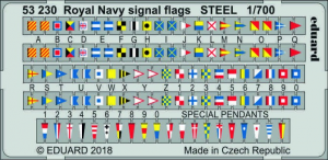 Royal Navy signal flags STEEL