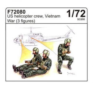 U.S. helicopter crew, Vietnam War (3 fig. )