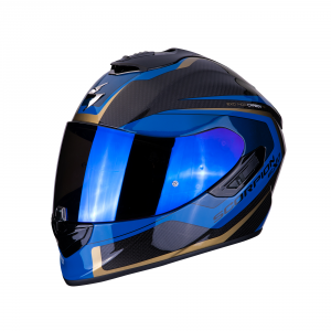 CASCO MOTO INTEGRALE SCORPION EXO-1400 CARBON AIR ESPRIT BLACK BLUE