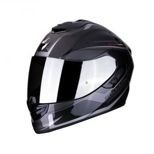 CASCO MOTO INTEGRALE SCORPION EXO-1400 CARBON AIR ESPRIT BLACK SILVER